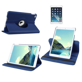 Harga Welink 2 in 1 iPad Air 1 Cover Case Plus Screen Protector, 360 Degree Rotating PU Leather Stand Smart Case Cover with Automatic Wake/Sleep Feature for iPad Air 1 (Blue)(Export)(Intl)