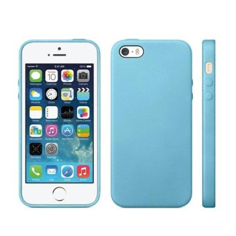 Harga Luxury Soft TPU GEL Case Bakc Cover for Apple iPhone 5 5S Blue - intl