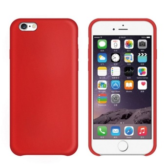 Harga PU Leather Snap-On Back Case Cover For Apple iPhone 7 Plus (Red)