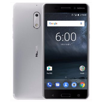 Harga Nokia 6 Global Version (4GB, 64GB) - Silver - intl