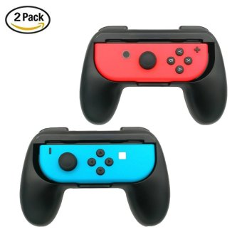 Harga leegoal 2 Pack Nintendo Switch Joy-Con Grips Controller, Wear-resistant Joy-con Handle Protect Case For Nintendo Switch, Black - intl