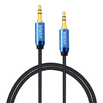 Harga VODOOL 2m Male to Male Audio Cable Premium Auxiliary Audio AUX Copper Core Cable PVC 3.5mm Audio Cable Black Suitable for Audio Signal Transmission of Moblie Phone, Computer, TV, MP3 DVD, Earphone - intl