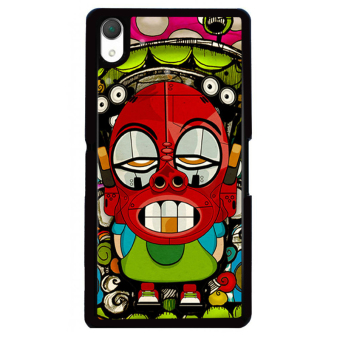 Harga Y&M SONY Xperia Z3 Cell Phone Case Amusing Cartoon Pattern Cover (Multicolor) - intl