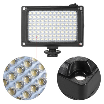 Harga Andoer AD-96 Mini Portable On-camera LED Video Fill-in Light Panel 5500K / 3200K CRI85+ with White & Orange Filters for Canon Nikon Sony DSLR Camera Camcorder Outdoorfree