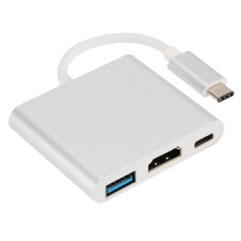 USB 3.1 Type-C Male to HDMI / USB 3.0 / USB-C Adapter - White - intl