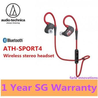 Harga Audio Technica ATH-SPORT4 Sonic Sport Wireless Stereo Headset (Red)