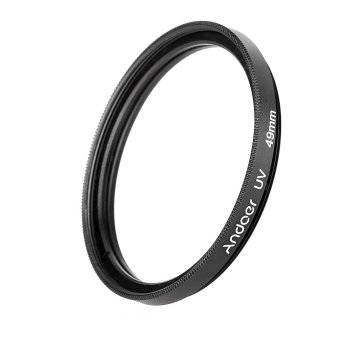 Harga Andoer 49mm UV Ultra-Violet Filter Lens Protector for Canon Nikon DSLR Camera (EXPORT)