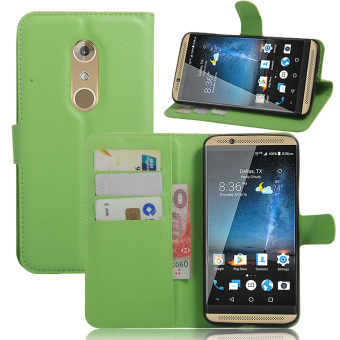 Harga Litchi Skin Leather Cover for ZTE Axon 7 (Green) - intl