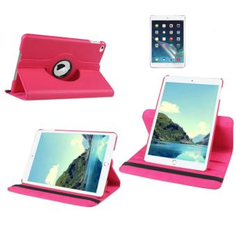 Harga Welink 2 in 1 iPad 2/3/4 Cover Case Plus Screen Protector, 360 Degree Rotating PU Leather Stand Smart Case Cover with Automatic Wake/Sleep Feature for iPad 2/3/4 (Pink)