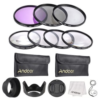 Harga Andoer 77mm UV + CPL + FLD + Close-up(+1+2+4+10) Lens Filter Kit