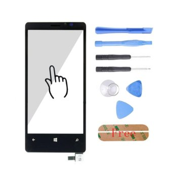 Top Quality Touch Glass Screen Digitizer Panel Free Tools Adhesive For Nokia Lumia N920 920 Black - intl - 2