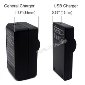 DMW-BLF19 Ultra Slim USB Charger for Panasonic Lumix DMC-GH3, Lumix DMC-GH3A, Lumix DMC-GH3AGK, Lumix DMC-GH3GK, Lumix DMC-GH3H, Lumix DMC-GH3HGK, Lumix DMC-GH3KBODY, Lumix DMC-GH4, Lumix DMC-GH4A, Lumix DMC-GH4H Camera - intl - 2