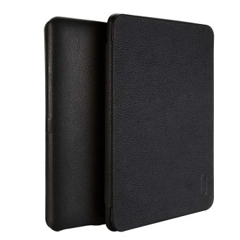 Harga LENUO Ultra Thin Flip Cover Case Soft Leather Cell Phone Cases For Amazon Kindle Paperwhite 1 / 2 / 3 (Black) - Intl
