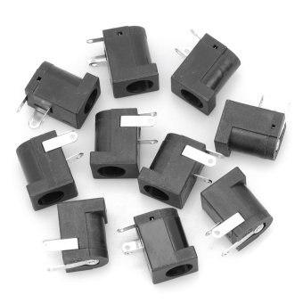 Harga 2.0mm DC Power Jack Connector - Black (10-Piece Pack)