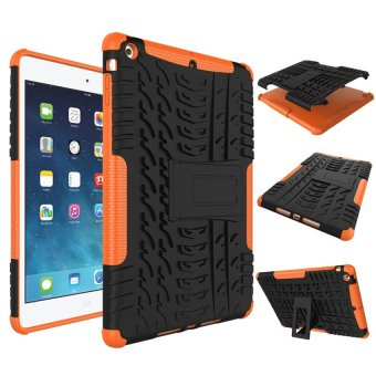 Harga Moonmini High Impact Rugged Shockproof Case Cover with KickstandforApple iPad 5 / iPad Air (Orange) - intl