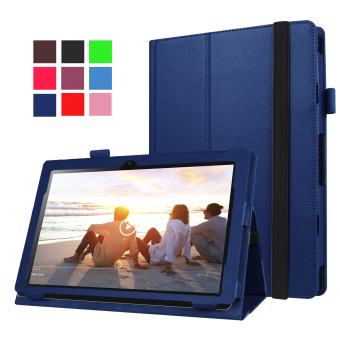 Harga Moonmini PU Leather Cover for Lenovo MIIX 310 10.1 inch (Dark Blue)
