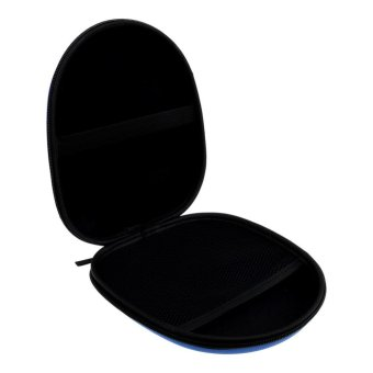 Headphone Storage Bag Carrying Pouch Hard Case Hold for Earphone Headset Earbuds-Blue - intl - 4