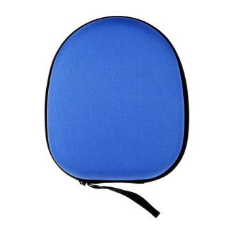 Headphone Storage Bag Carrying Pouch Hard Case Hold for Earphone Headset Earbuds-Blue - intl - 2