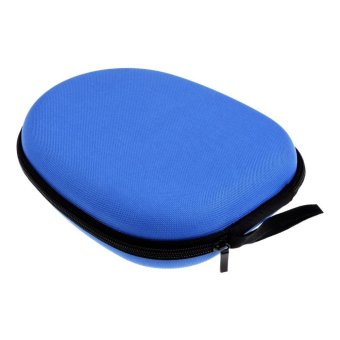 Headphone Storage Bag Carrying Pouch Hard Case Hold for Earphone Headset Earbuds-Blue - intl - 3