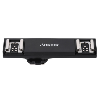 Harga Andoer Dual Hot Shoe Flash Speedlite Light Bracket Splitter for Canon 7DII 70D 5DR 5DRS 5DIII 6D DSLR Camera Camcorder (EXPORT)