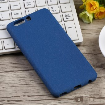 Ultra-Thin Shockproof Cover Soft TPU Matte Back Shell Phone Case For Huawei P10 Plus Blue - intl