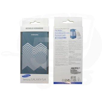 Nicholas Kirkwood Flip Wallet Cover for Samsung Galaxy S5 (Green) - 3