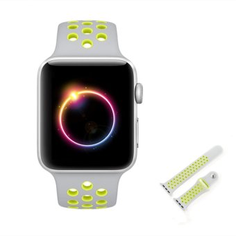 Ontube For Apple Watch Band Nike+ Series 1 Series 2, Soft Silicone Sport Bracelet Replacement Strap for iwatch band M/L Size 38mm - intl - 5