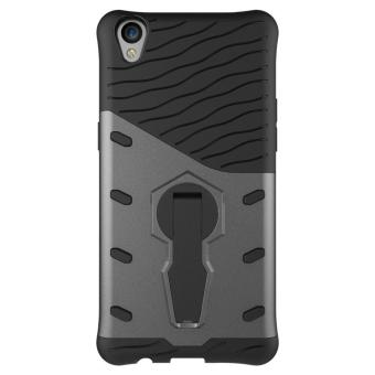 Harga Heavy Duty Shockproof Dual Layer Hybrid Armor Defender Full Body Protective Cover with 360 Degree Rotating Kickstand Case for Oppo R9 - intl