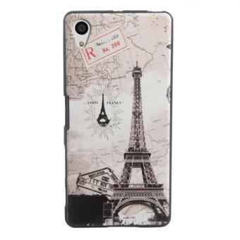 Harga Soft TPU 3D Embossed Painting Cover Case For Sony Xperia X(Map tower) - intl