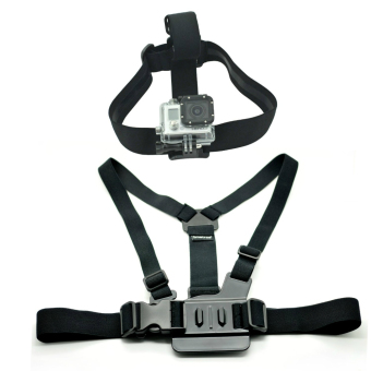 Harga Strap Set (Head + Chest) for Waterproof Sports Action Camera