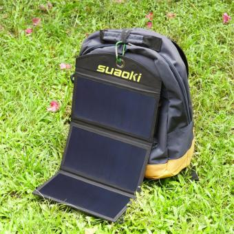 Suaoki 20W Foldable Dual-Port Solar Charger - 5