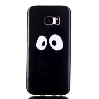 Moonmini TPU Soft Case for Samsung Galaxy S7 Edge (Black) - 2