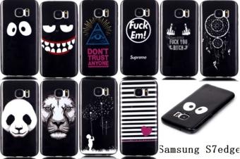 Moonmini TPU Soft Case for Samsung Galaxy S7 Edge (Black) - 5