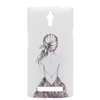 Harga Hard Plastic Back Painting Back Case for OPPO Find 7 (Black/White) - intl