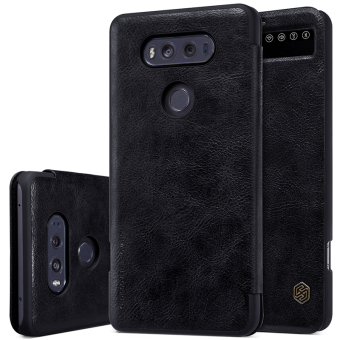 Harga Original Case For smartphone LG V20 Nillkin luxury flip cover Ultra Thin Design leather Case 360 degree protection for LG V20 (Black) - intl