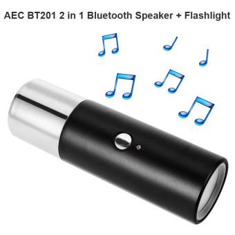 AEC BT201 2 in 1 Wireless Bluetooth Speaker (Black) - 2