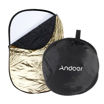 "Harga Andoer 24"" ?Ã?? 36"" / 60 ?Ã?? 90cm 5 in 1 (Gold, Silver, White, Black, Translucent) Multi Portable Collapsible Studio Photo Photography Light Reflector (EXPORT)"
