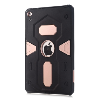 Harga Moonmini Hybrid Full Body Armor Hard PC + Soft Silicone Shockproof Back Case Cover for Apple iPad Mini 4 (Pink)