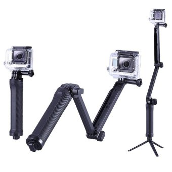 "Fomito 3 Way Adjustable Arm 7.5-20"" Mount Tripod Hand Grip Monopod for GoPro Hero 4 3 2 1 SJCAM 4000 5000 6000 Xiaoyi Sport Cameras (Black) - Intl - 3"