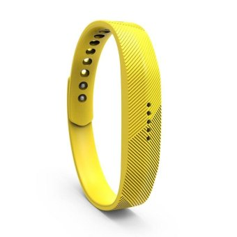 Harga Fitbit Flex 2 Bracelet Strap Replacement Band L(Yellow) - intl
