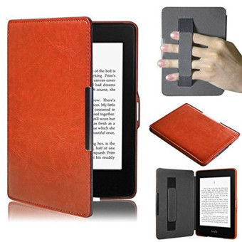 PU Leather Folio Case Cover For Amazon Kindle Paperwhite (Brown)