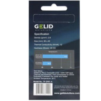 GELID cutting edge thermal pad GP-EXTREME 0.5mm for CPU GPU south/north bridge ASICs - Intl - 4
