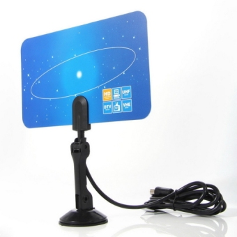 Harga OH Digital Indoor HD TV HDTV DTV VHF UHF PC NB Flat High Gain Antenna 1080 i P