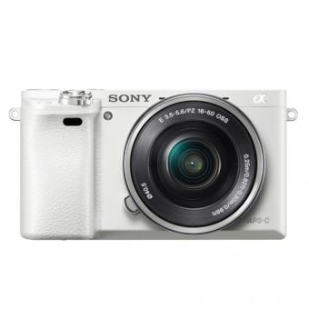 Harga Sony Singapore a6000 / ILCE-6000L E-mount Camera with APS-C Sensor SELP1650 Lens Kit (White)