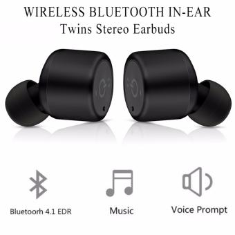 Harga X1T Twins Bluetooth Earbuds Sports Stereo Wireless Earphones With Voice Prompt