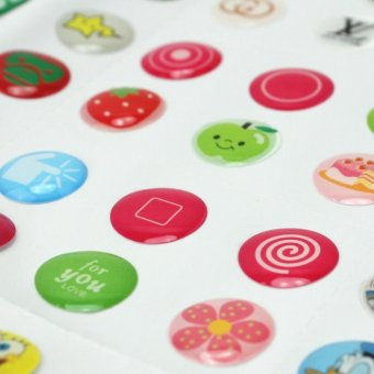 AC 330 Pcs Cute Cartoon Home Button Stickers For iPhone 4 4S 5 5C 5S 6 6S Practical - intl - 4