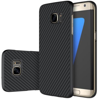 Nillkin Carbon Synthetic Fiber + PP Plastic Cover Hard Phone Case for Samsung Galaxy S7 Edge