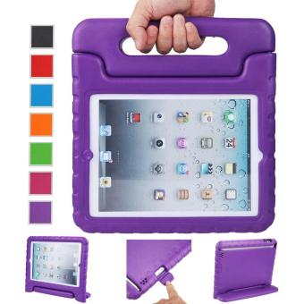 Harga Welink Apple iPad 2/3/4 EVA Case / Shockproof Case Light Weight Kids Case Super Protection Cover Handle Stand Case For Apple iPad 2/3/4 (Purple)