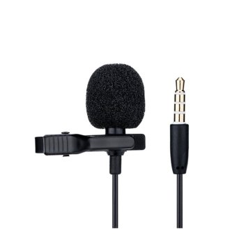 Harga JJC SGM-28 Lavalier Microphone Clip Mic for 3.5mm Mobile Phone Apple Samsung Vivo oppo Voice Record - intl