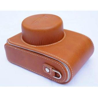 Harga New Luxury Leather Video Camera case Bag For Leica D-LUX Type 109 Camear Bag (Brown) - Intl